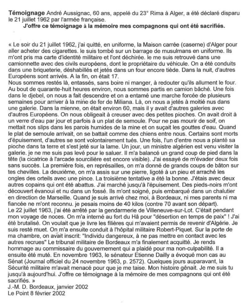 Prisonniers du FLN: ces victimes oubliées de la guerre d'Algérie 21_jui11