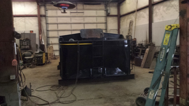 Tank removed for repair Weldin10