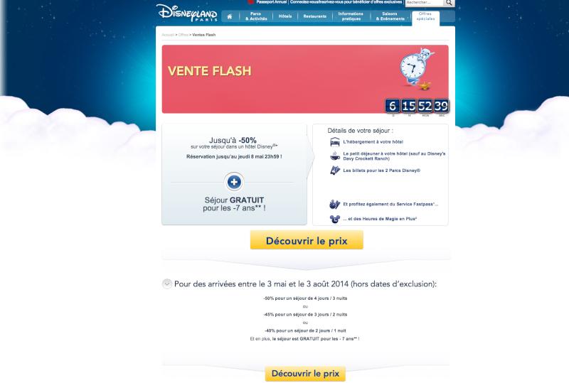 VENTE FLASH Disneyland Paris.fr Captur11