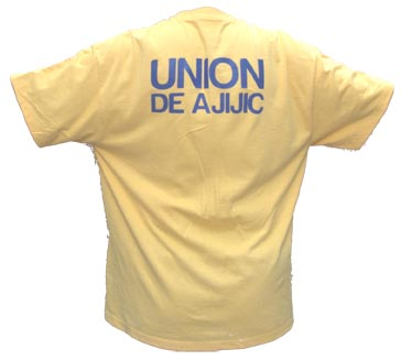 Wear the Pride!  Be official.  Union Ajijic soccer t-shirts available. Tshirt11