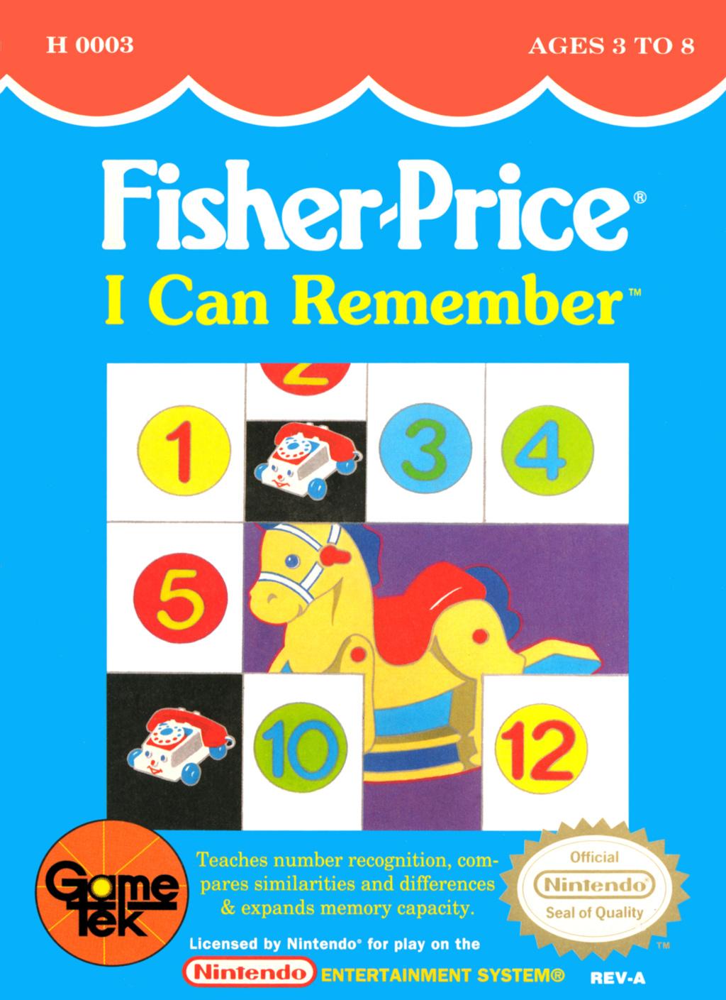 La licence Fisher price sur NES 2380-110