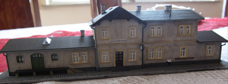 Bahnhofs-Diorama Radeburg 1:160 Forum-14