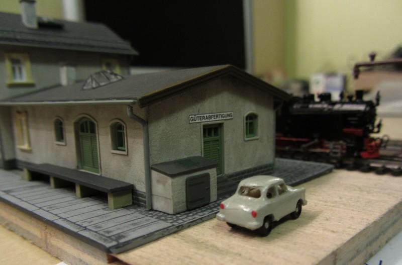 Bahnhofs-Diorama Radeburg 1:160 Forum-26