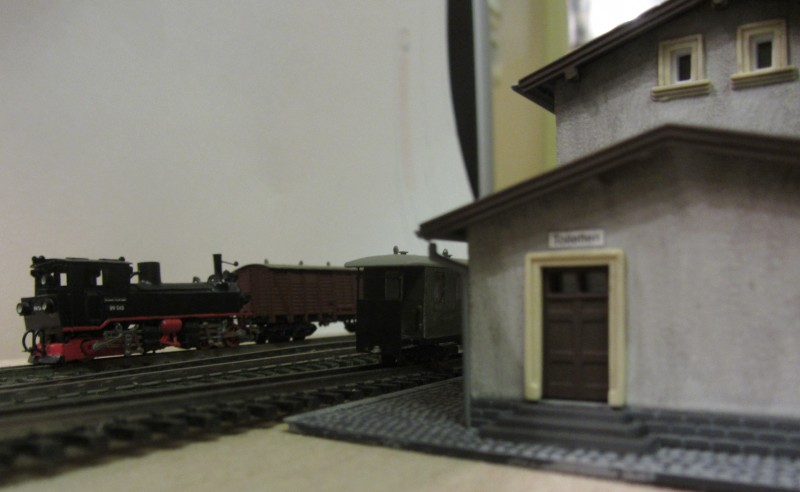 Bahnhofs-Diorama Radeburg 1:160 Forum-27