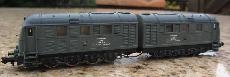 Frisur einer Kleinserien V188 Spur N V188be10