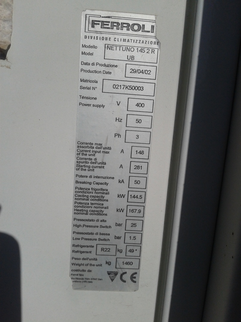 pompe à chaleur FERROLI 2013-111