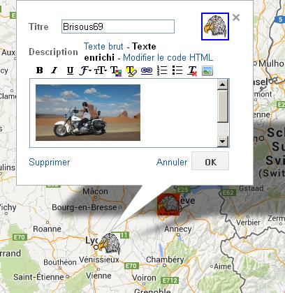 Géolocalisation (carte visible voir le lien sur le topic liens divers) Brisou11