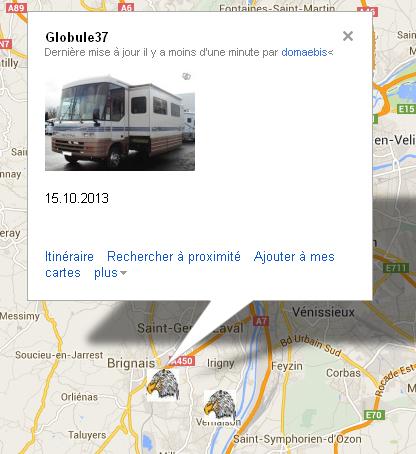 Géolocalisation (carte visible voir le lien sur le topic liens divers) Globul10