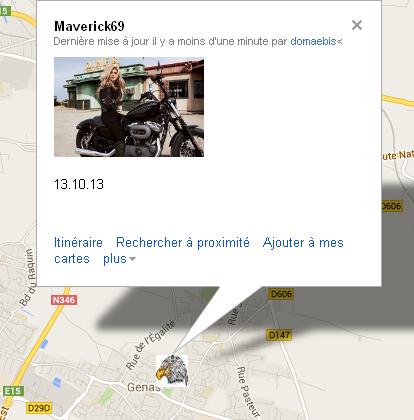 Géolocalisation (carte visible voir le lien sur le topic liens divers) Maveri10