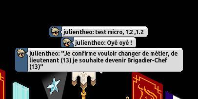 [Transfère de grade]Pour devenir Brigadier-Chef #Julien Transf10