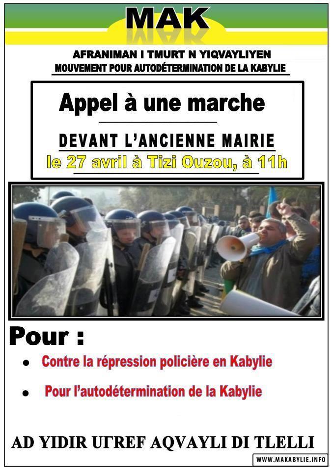 Le MAK appelle à une marche le 27 avril 2014 contre la répression 1180