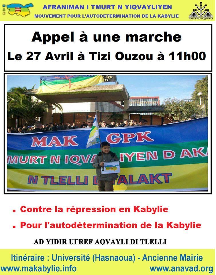 Le MAK appelle à une marche le 27 avril 2014 contre la répression 1181