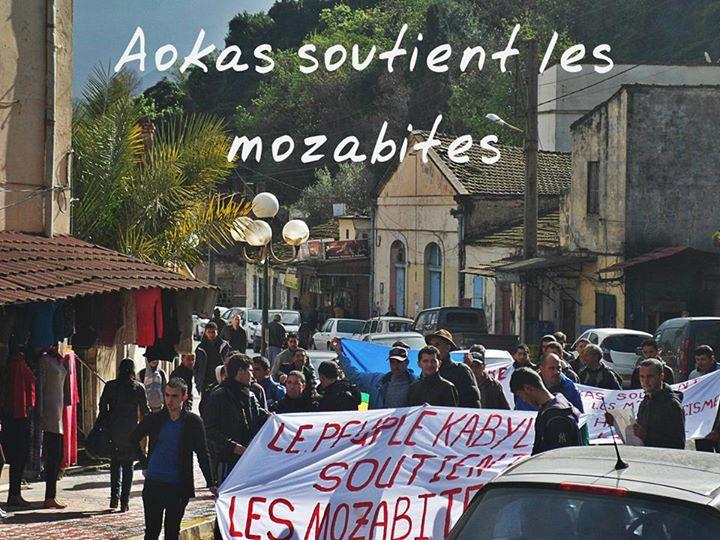 Rassemblement de solidarité avec les mozabites à Aokas le mardi 11 fevrier 2014 (6) Mzab11