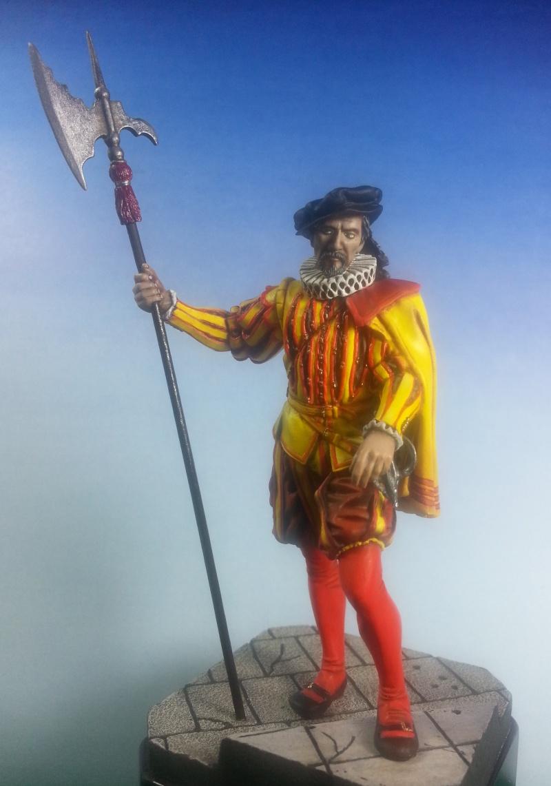 HALLEBARDIER de la Garde Espagnole XVIème siècle Halleb10