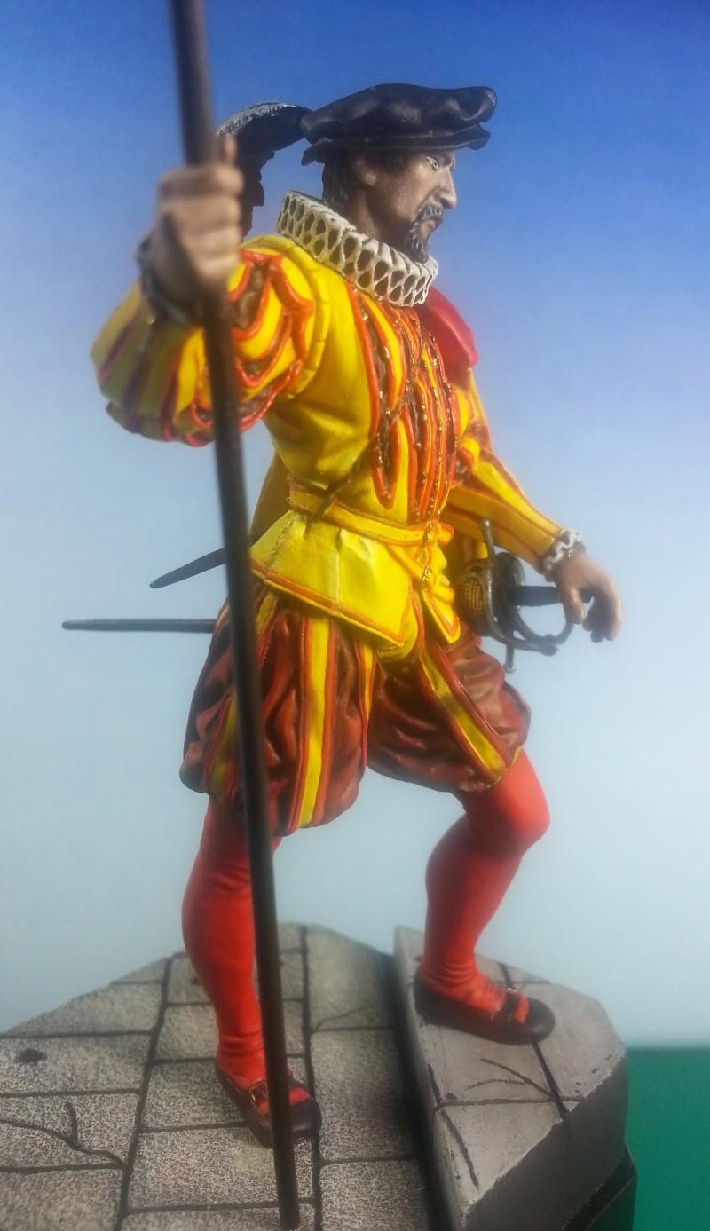 HALLEBARDIER de la Garde Espagnole XVIème siècle Halleb13