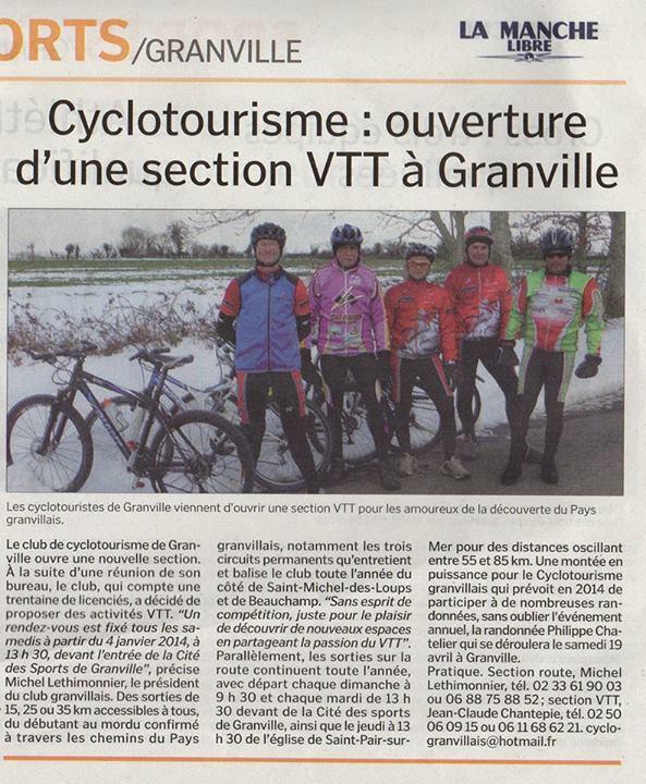 Cyclotourisme Granvillais Cyclo210