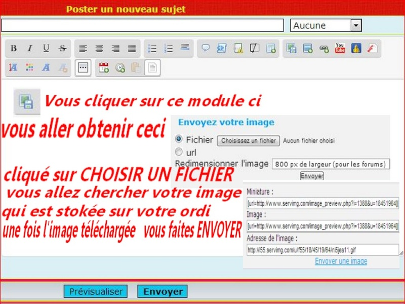 << FLASH INFO >>   EXPLICATIONS POUR DEPOSER UN BILLET , UNE IMAGE OU UNE VIDEO    11111110
