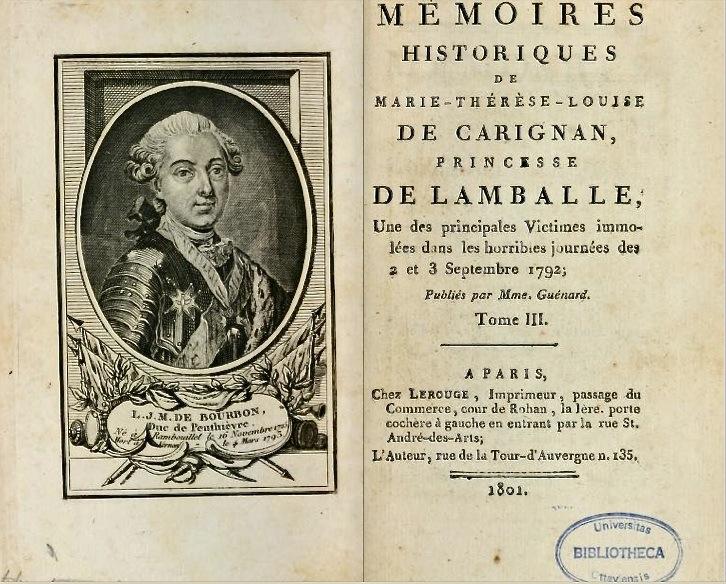 Les biographes de la princesse de Lamballe Memoir10