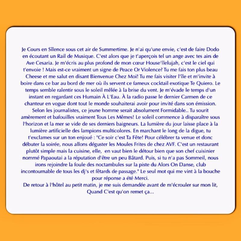 Les titres de Stromae dans une mini histoire.. Écrivain (très) amateur Image19