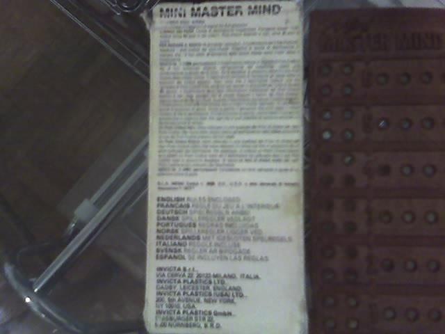 Mini Mastermind 27-04-11