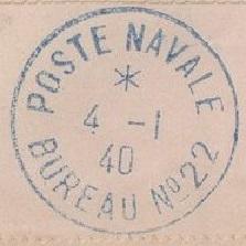 Bureau Naval N° 22 d'Alger 2210