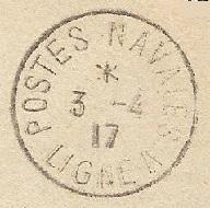 Bureau Embarqué du Croiseur Auxiliaire NUMIDIA - LIGNE A Cachet10
