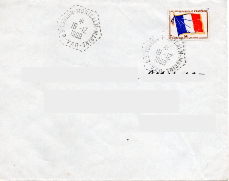 * TOULON MONTCALM, Bureau Postal Naval * Img34910