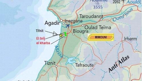 carte map de Sidi Bibi region Mimoun10