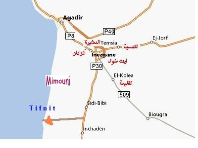 carte map de Sidi Bibi region Mimoun11