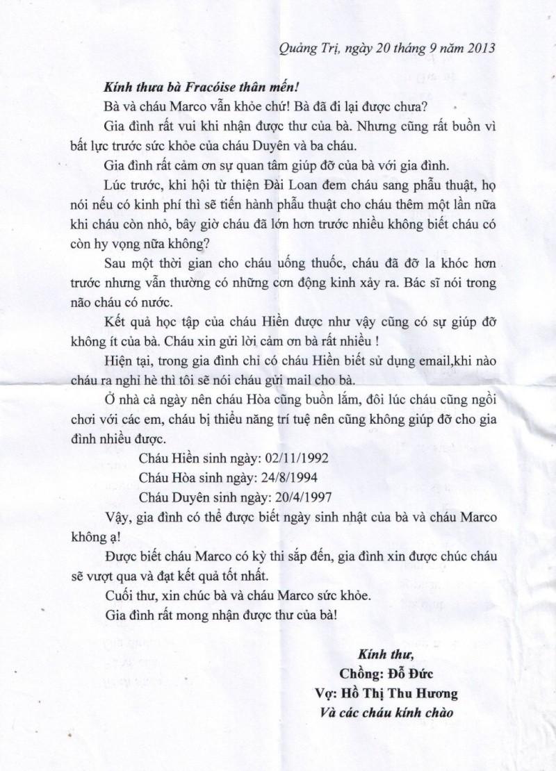 """Association """"Les Amis de Xuan Minh"""" - Page 2 Lettre10"""