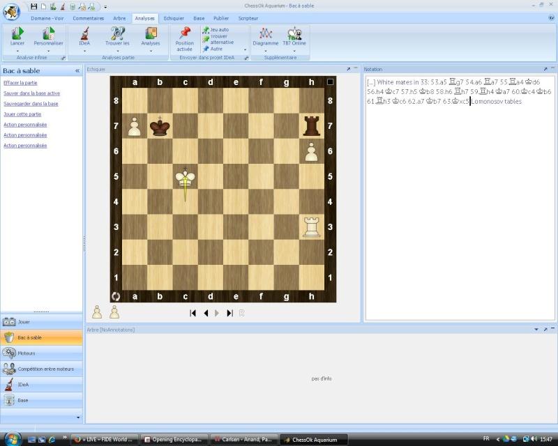 Où suivre le match Anand vs Carlsen ? Finc10