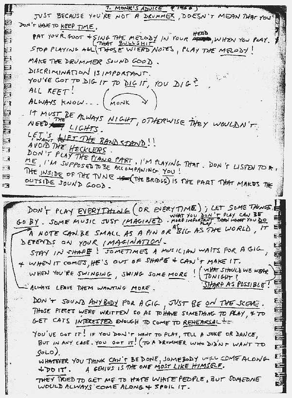 [jazz] Thelonious Sphere Monk (1917-1982) Monk110