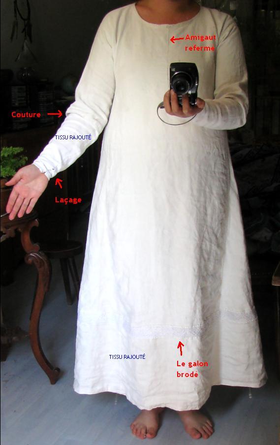 Essai de broderie XIIIe et récupération de chemise... Med10