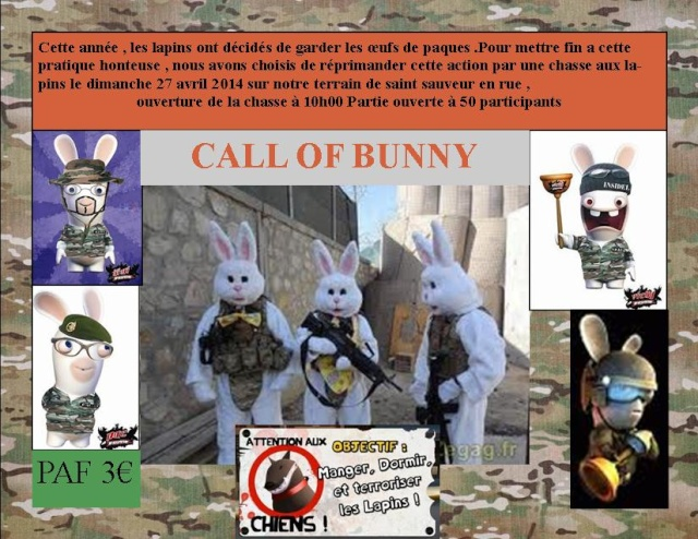 Complet CALL OF BUNNY 27 avril 2014  , 303 AT saint sauveur Partie17