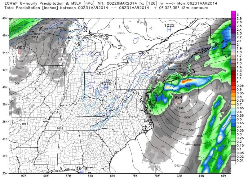 March 28-31st Possible Rain Storm Ecmwf_52