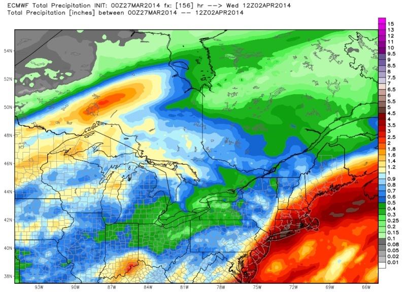 March 28-31st Possible Rain Storm - Page 2 Ecmwf_53