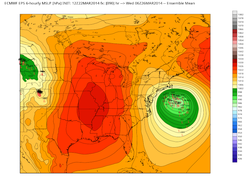 March 25th-26th Possible Coastal Storm Potential 2.0 - Page 6 Eps_sl13