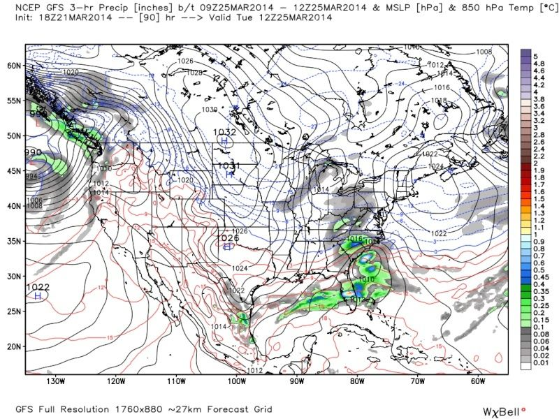 *BLOG* (page 13) March 25th-26th Possible Coastal Storm - Page 14 Gfs_pr22