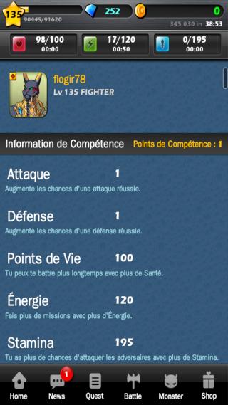 Evolution de [SnR]Flo44 Skill10