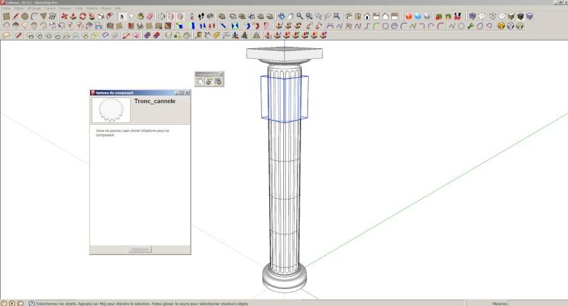 Composant dynamique : colonne a cannelures Colonn10