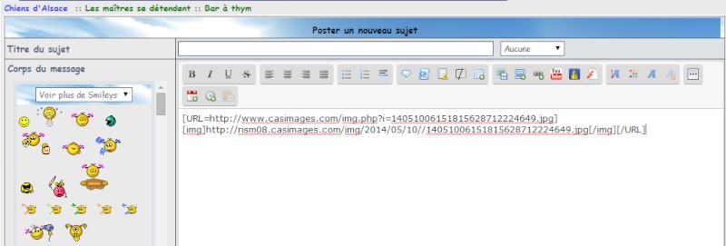 Tutoriel pour poster une image ou photo avec Servimg et Casimage Casima23