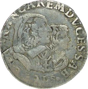 5 Soldi 1648 de Charles-Emmanuel II, Maison de Savoie Sav16910