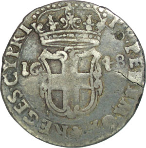 5 Soldi 1648 de Charles-Emmanuel II, Maison de Savoie Sav17010