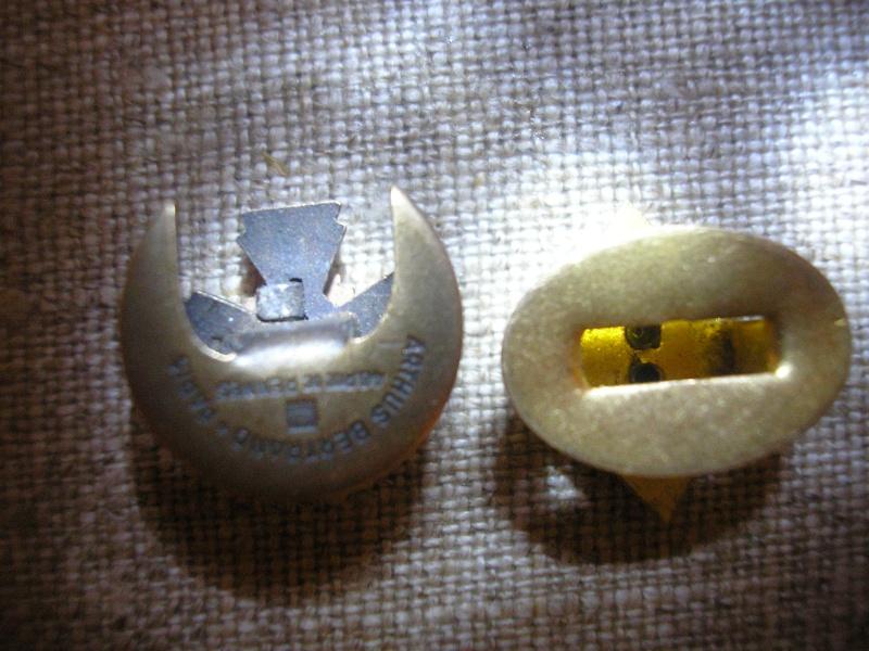2 insignes de boutonnières + bague P1010013