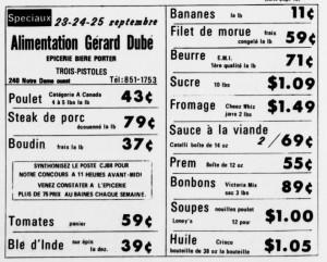 Les cuisses à Mam Thibault à l'épicerie Gérard Dubé 1181