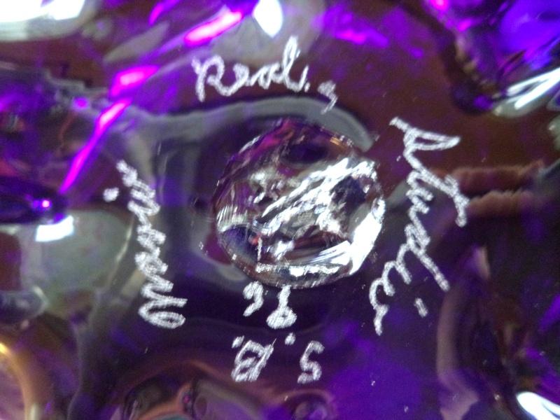 need help with signature art glass millefiori iredescent ewer Ewerst10