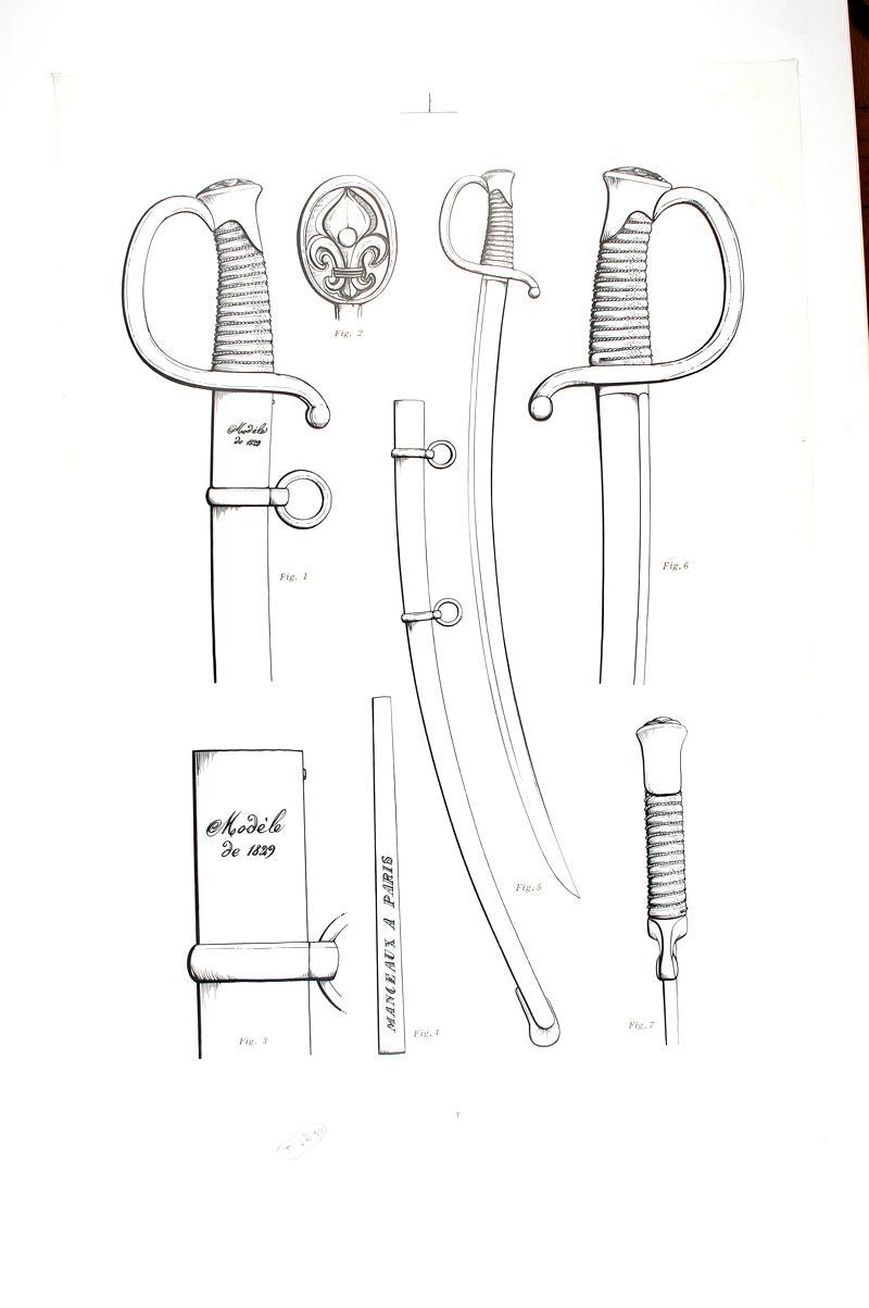 Restauration d'un sabre d'artillerie modèle 1829 1829-s10
