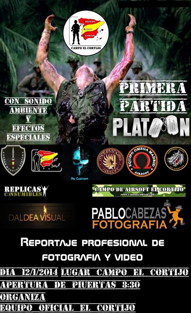 """""""PARTIDA PLATOON"""" Partida Abierta  Domingo 12/1/2014 Campo El Cortijo Fbma10"""