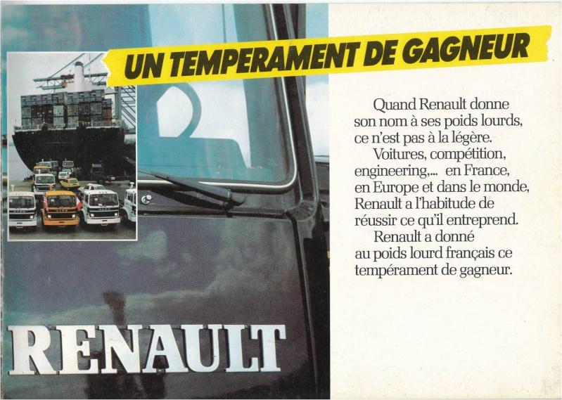 Pub et catalogues RENAULT....les camions Defi_114