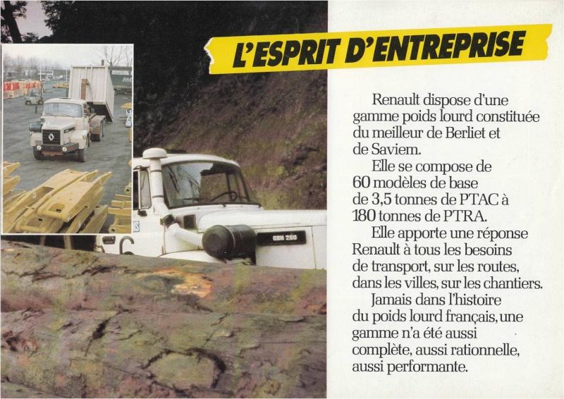 Pub et catalogues RENAULT....les camions Defi_510